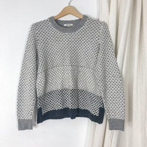 Madewell Greyscale Stripe Knit Pullover Sweater